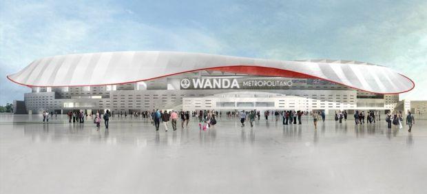 El nuevo estadio del atl tico de madrid ya tiene nombre for Puertas wanda metropolitano