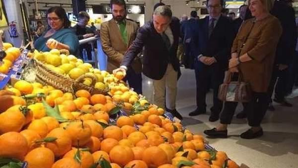 Elías Bendodo Carrefour naranjas málaga Sabor a Málaga convenio productos agro