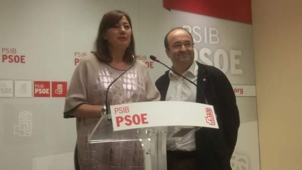 Francina Armengol y Miguel Iceta