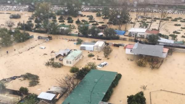 Inundaciones Málaga diciembre 2016 helicoptero guardia civil