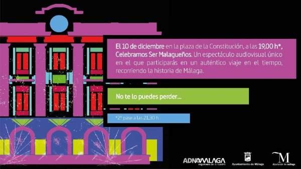 ADN Malaga video mapping plaza consitución