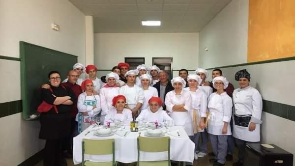 Alumnos de FP en el IES de Cumbres Mayores, en Huelva.