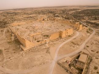 Palmyre - Vue aérienne Temple de Bêl