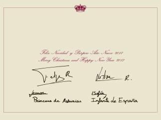 La firma de los reyes y sus hijas