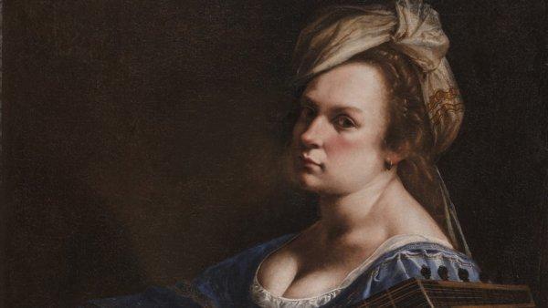 'Autoritratto come suonatrice di liuto', 1617-18 ca.
