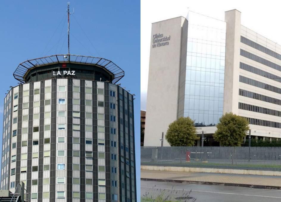 La paz y la cl nica universidad de navarra repiten como - Hospital de la paz como llegar ...