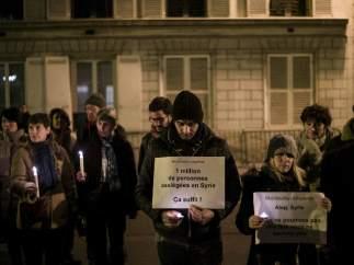 Ciudadanos de París se solidarizan con Siria