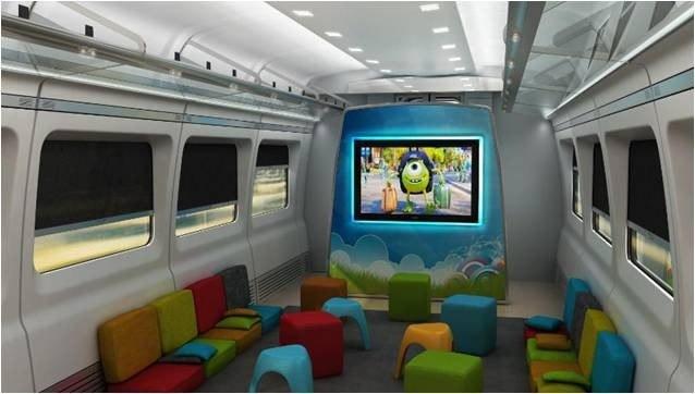 ESPACIO PARA LOS NIÑOS. Habrá vagones destinados a los más pequeños para que sus viajes sean más entretenidos y puedan relacionarse con otros niños.