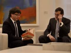 Rajoy y Puigdemont tuvieron una reunión en Moncloa el 17 de enero