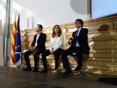 Lluís Soler, Marta Pascal y Carles Puigdemont
