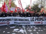 Manifestación de los sindicatos en Madrid