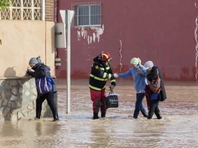 Temporal de lluvias en Murcia