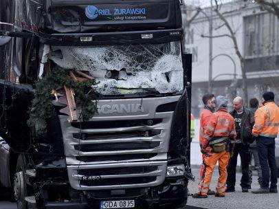 Estado del camión tras el ataque en Berlín