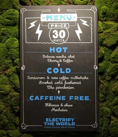 Precio del menú del café de Nissan en París