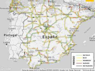 Los tramos de carretera con mayor siniestralidad en España