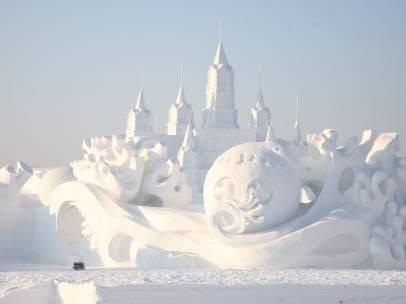 Escultura en nieve