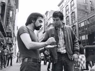Martin Scorsese and Robert De Niro on the set of TAXI DRIVER, 1976