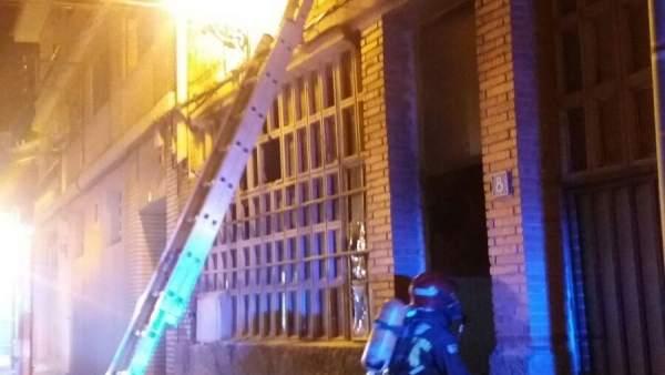 Incendio de un local en Illueca (Zaragoza)