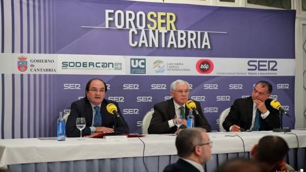 Modesto Piñeiro y Antonio Fdez Rincón en el Foro de la Ser
