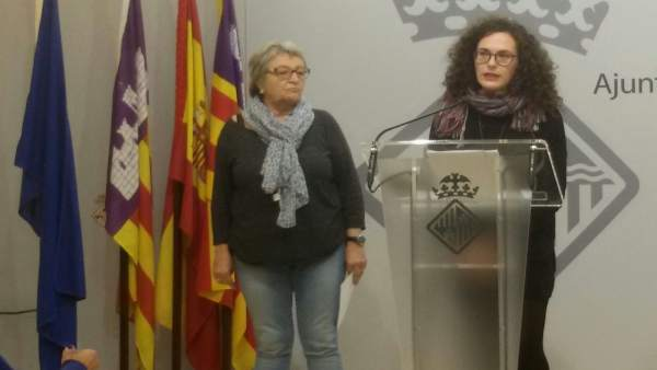 Mercè Borràs y Eva Frade, concejalas de Palma