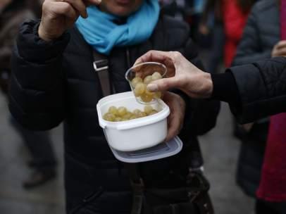 Ensayo de las campanadas con uvas en la Puerta del Sol de Madrid