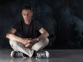 John Keane in front of Infinitum B, 2016