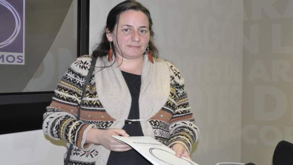 La diputada de Podemos en las Cortes de Aragón Marta de Santos