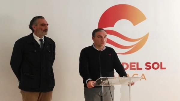 El presidente de Diputación, Elías Bendodo, y el de Aehcos, Luis Callejón.