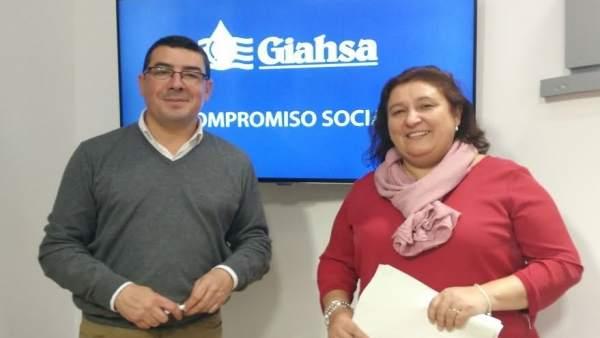 Manuel Domínguez y Laura Pichardo, responsables de Giahsa en Huelva.