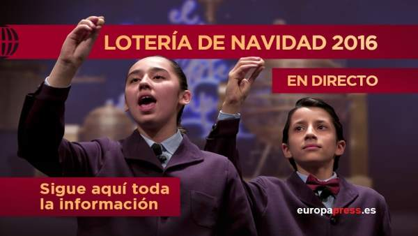 Lotería de Navidad 2016   Directo