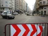Cortes de tráfico en Gran Vía en Madrid por Navidad.