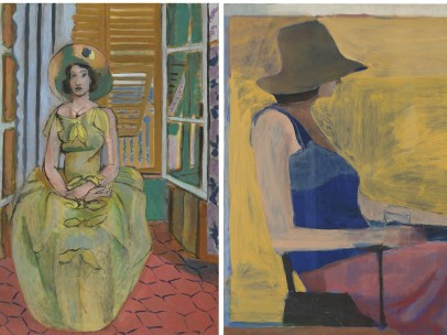 Henri Matisse 'The Yellow Dress', 1929-31 - Richard Diebenkorn 'Seated Figure With Hat', 1967