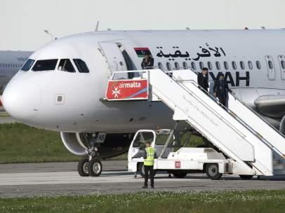 Avión de Malta secuestrado