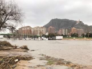 Imagen del temporal en Cullera