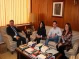 El subdelegado con representantes del Consejo de Estudiantes de la UCO
