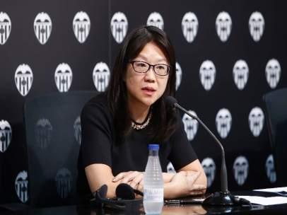 Layhoon Chan en rueda de prensa del Valencia CF