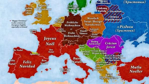 as u00ed se desea  u0026 39 feliz navidad u0026 39  en todos los idiomas europeos