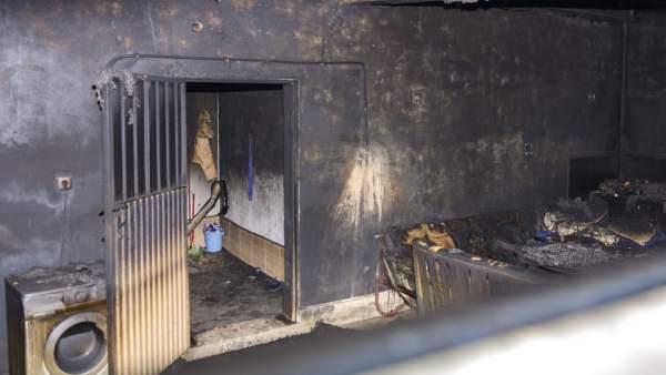 Incendio en Jaén