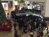 Disturbios en centros comerciales