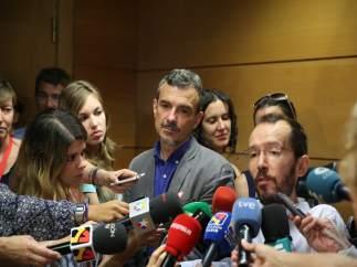 Pablo Echenique y José Manuel López, de Podemos