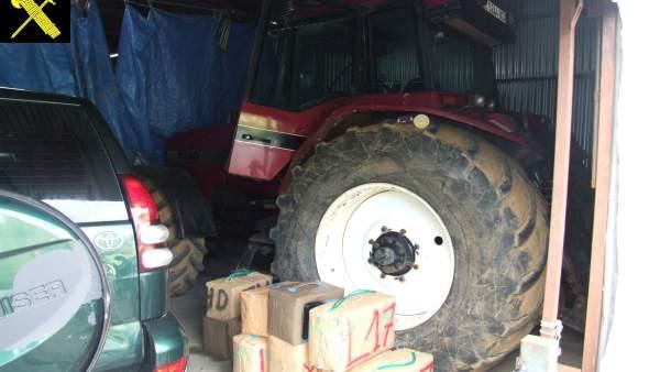 Droga y vehículos intervenidos en una operación en San Roque