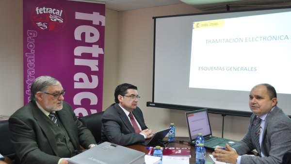 Reunión de Fetracal con la Junta de CyL.