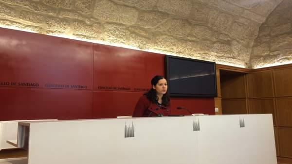 María Rozas presenta el proyecto de presupuestos de Santiago