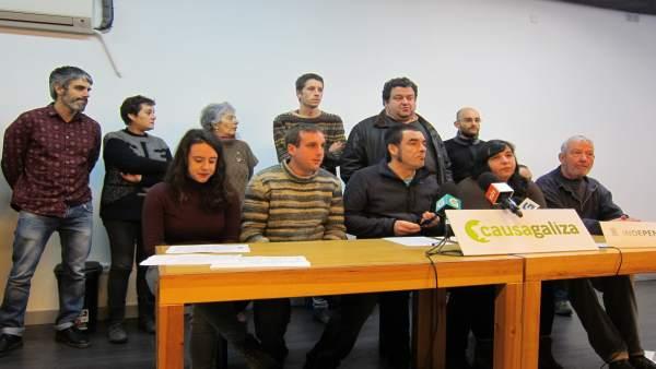 Rueda de prensa de los imputados de Causa Galiza