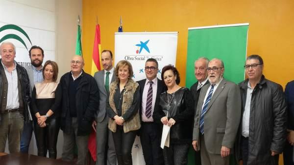 Firma del convenio de ayudas a proyectos de iniciativas sociales.