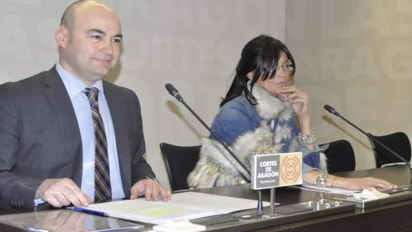 Los diputados del PP María José Ferrando y Fernando Galve.