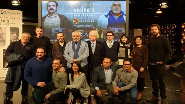 Miembros del equipo de dirección y artístico de 'Grupo 2 Homicidios'.