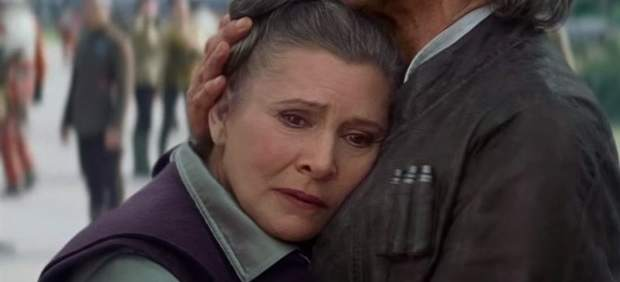 Carrie Fisher interpretando a la Princesa Leia