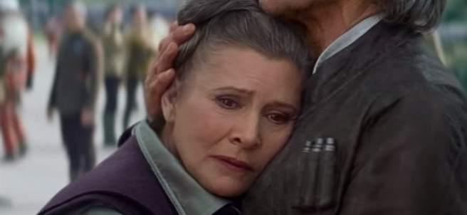 Carrie Fisher interpretando a la Princesa Leia