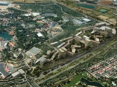 Proyección virtual del futuro Centro Recreativo y Turístico de Vila-seca y Salou
